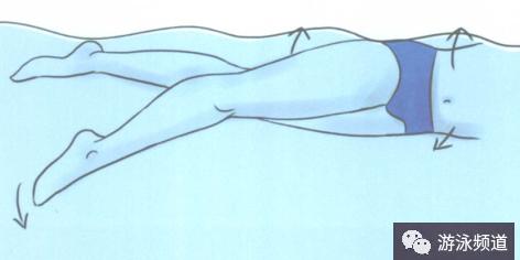 自由泳腿部打水慢动作图解